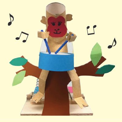 お猿の工作写真