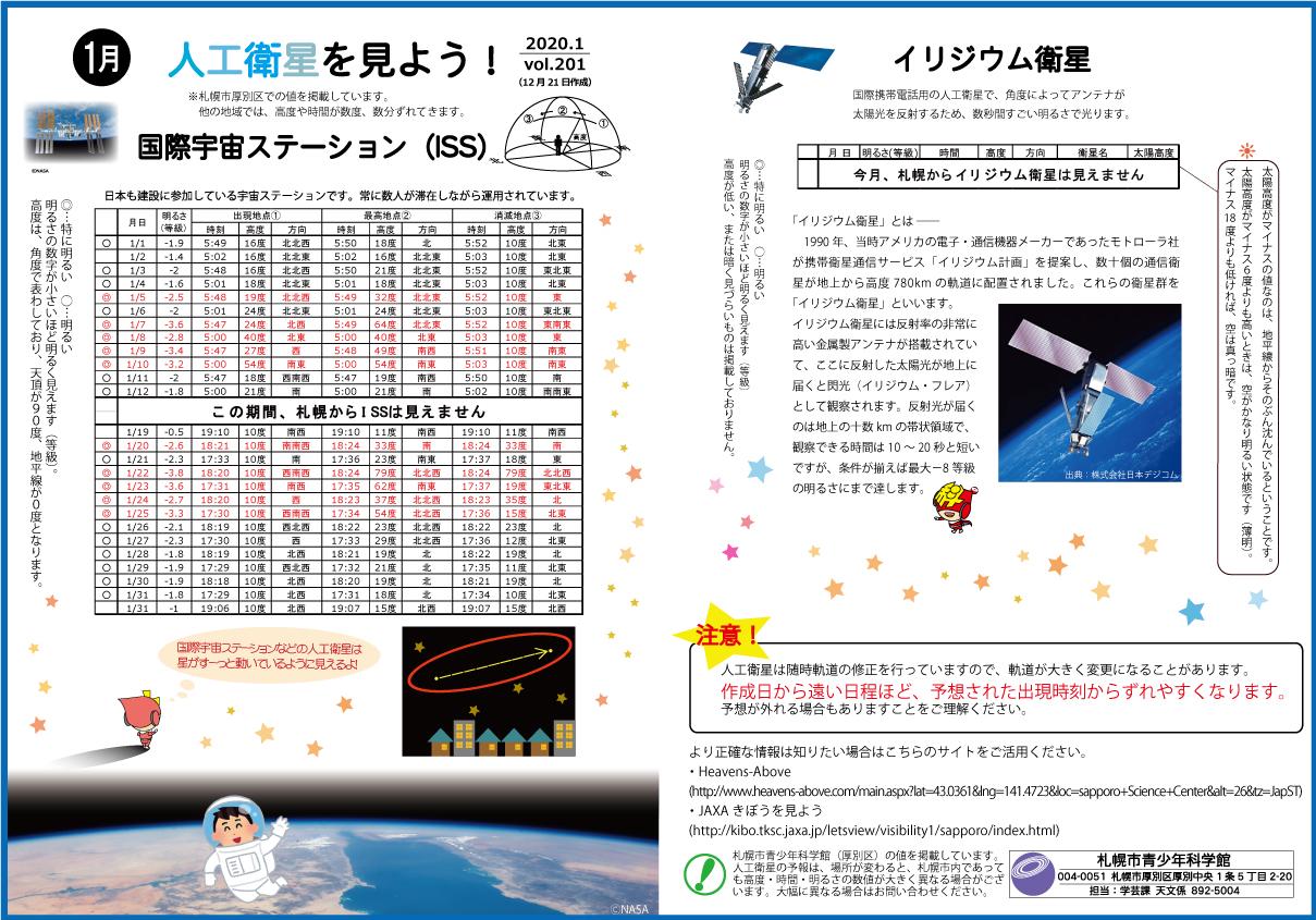 1月の人工衛星