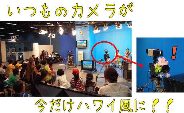 映像スタジオのカメラ