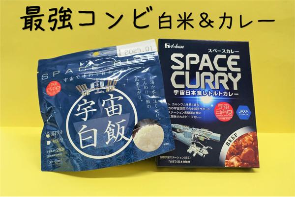 売店商品 宇宙食のカレーと白米